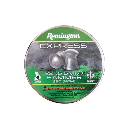 Remington hammer pellets 22 cal 250 tin