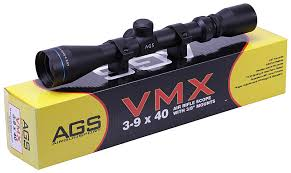 AGS Cobalt Rifle Scope 3-9x40with Match Mounts