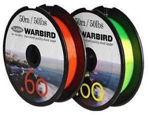 Fladen Warbird Hi-Vis 60lb Shockleader Line (Orange or Yellow)