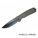 Lock Knife With Carbon Fibre Coating And Nylon Case