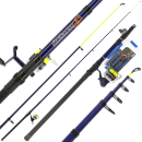 Angling Pursuits Telescopic Beachcaster Combo - Telescopic Rod, Reel and Accessory Set