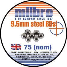 Pack Of 75 9.5mm Slingshot Ammo