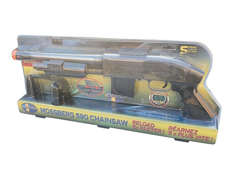 Mossberg M590 Chainsaw Spring Shotgun with 500 BB's (Short - Clear - Cybergun