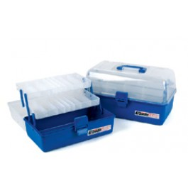 Clear Top Two Tray Cantilever Tackle Box