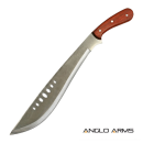 "20.75"" Machete with Wooden Handle and Sheath"