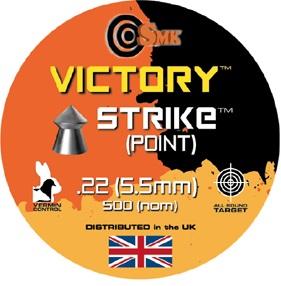 VICTORY STRIKE .22 AIRGUN PELLETS X 500