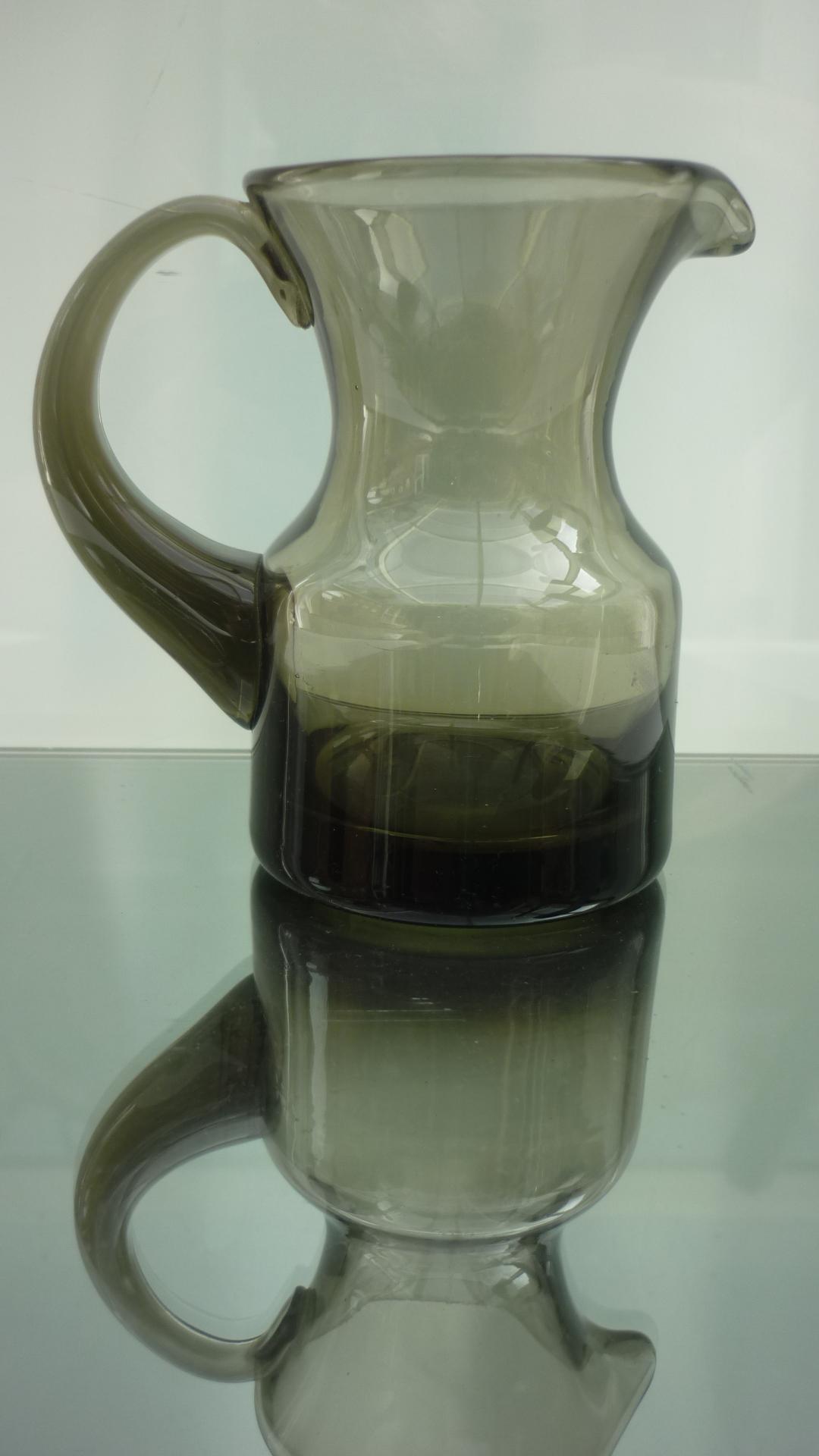 4cms high Cinnamon colour Whitefriars cream jug.