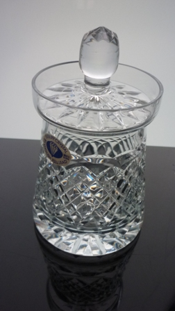 Tutbury Crystal Conserve Lidded Jar