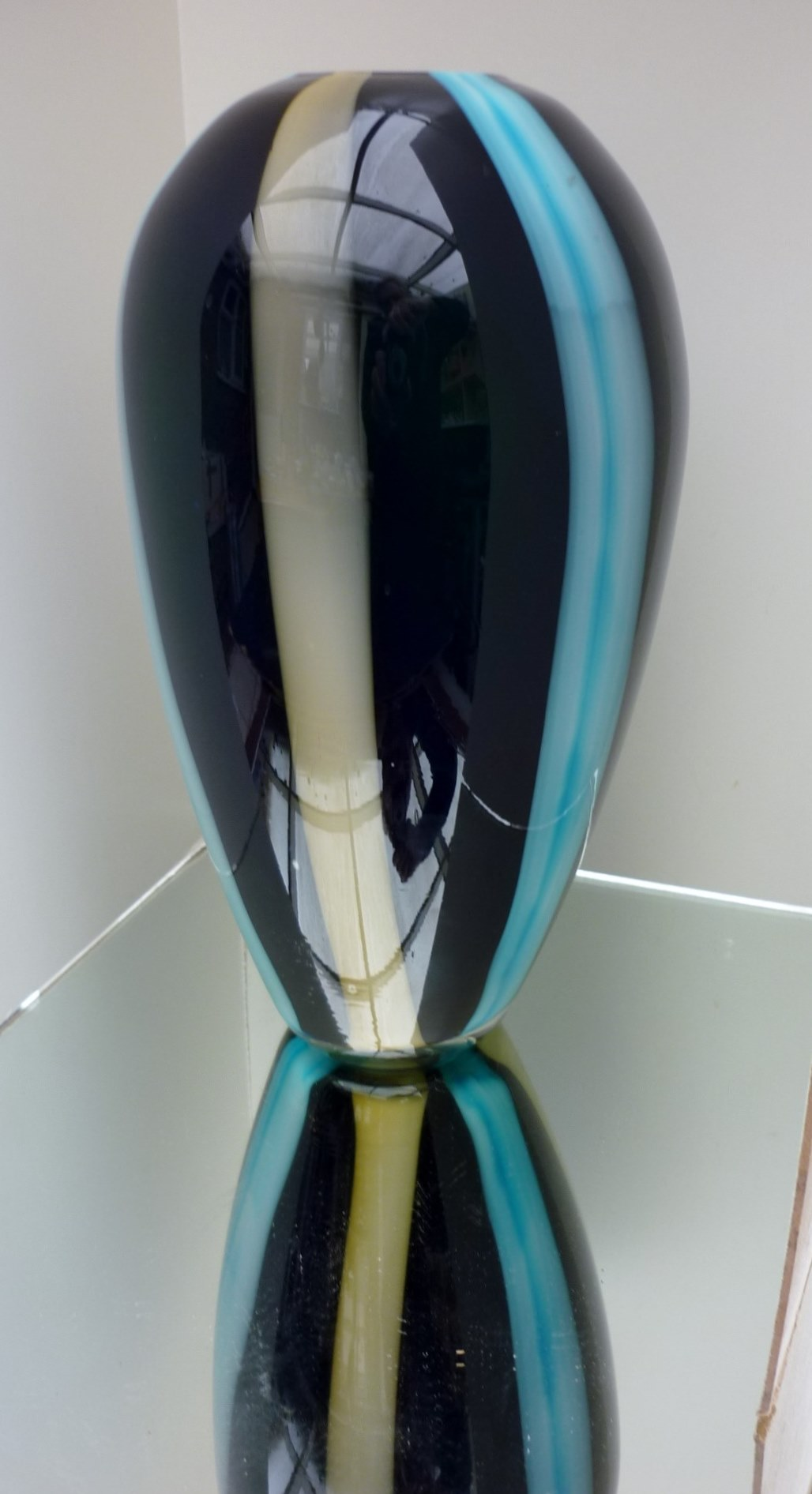 An impressive Studio Glass Baluster Vase.