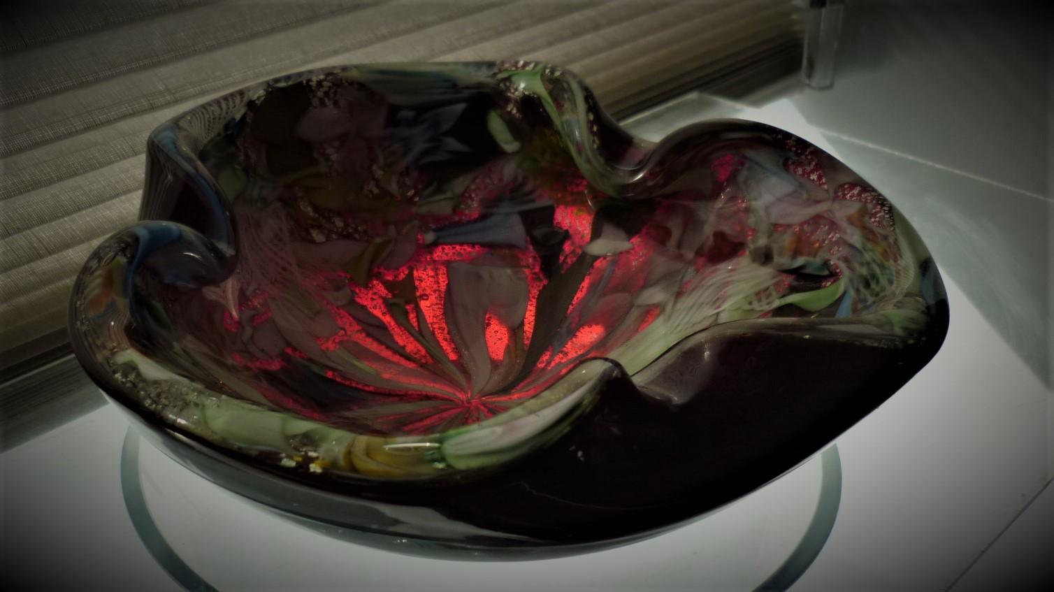 1950s vintage AVeM Murano glass Tutti Frutti bowl. Most likely by Giulio Radi