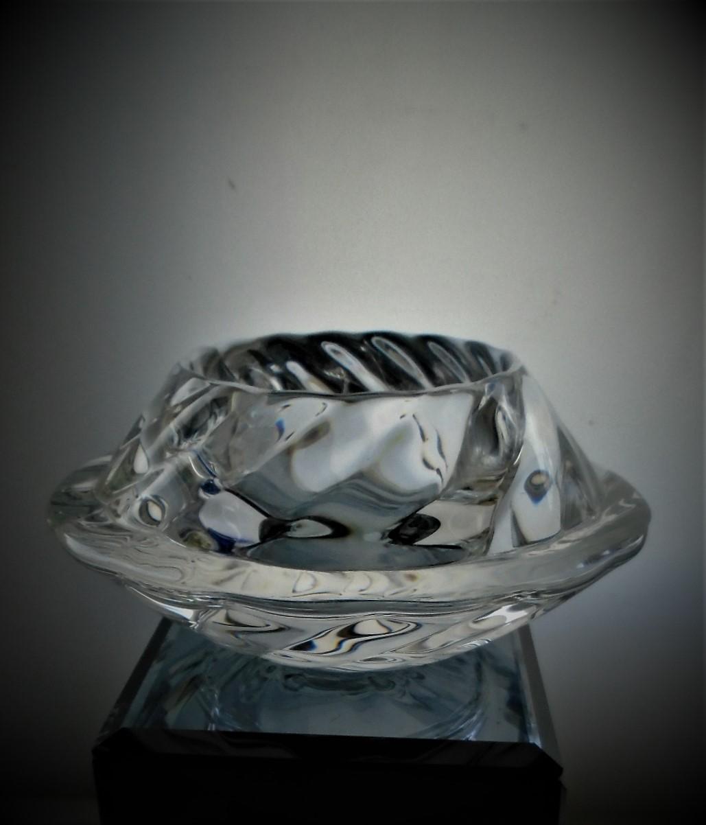 Stylish 70s Royal Copenhagen Crystal Glass Votive holder.