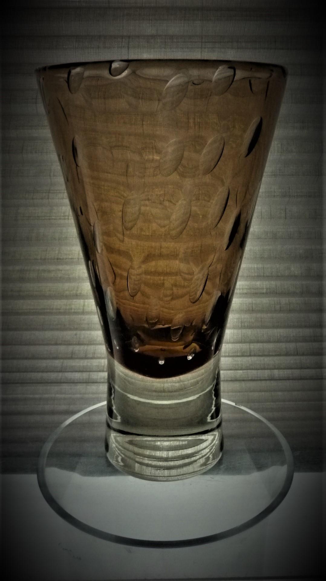 1960s vintage Harrachov Glass vase designed by Milan Metelak.