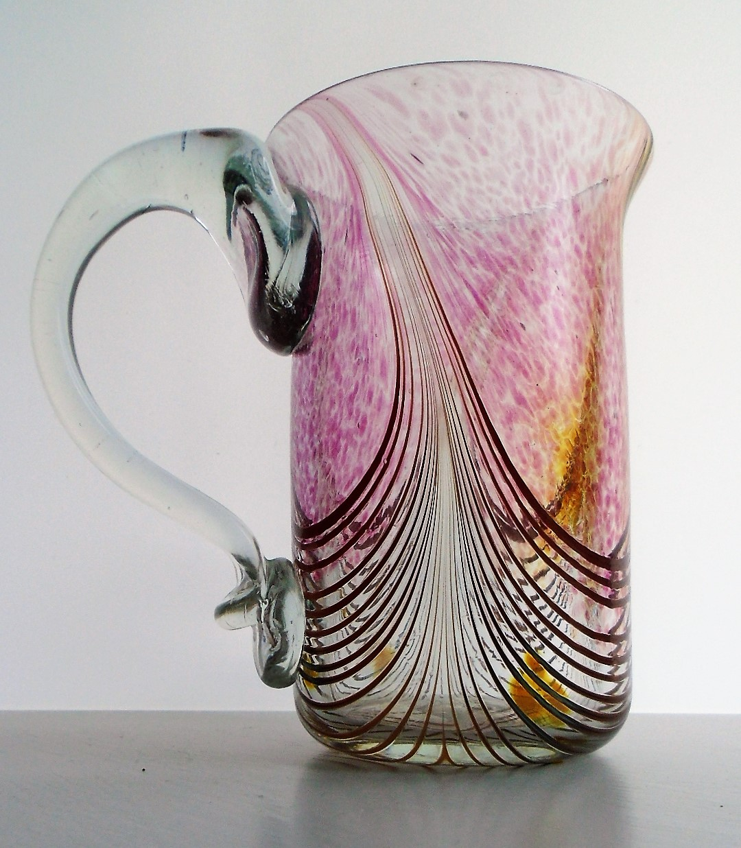 SIGNED GEORGE ELLIOTT STUDIO GLASS MUG