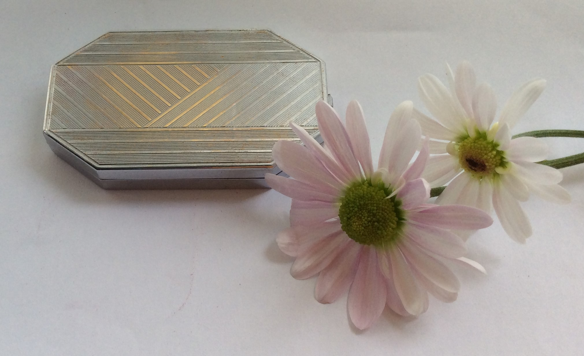 HOUBIGANT FRANCE Art Deco (1929) Pressed Powder Double Compact/Vanity