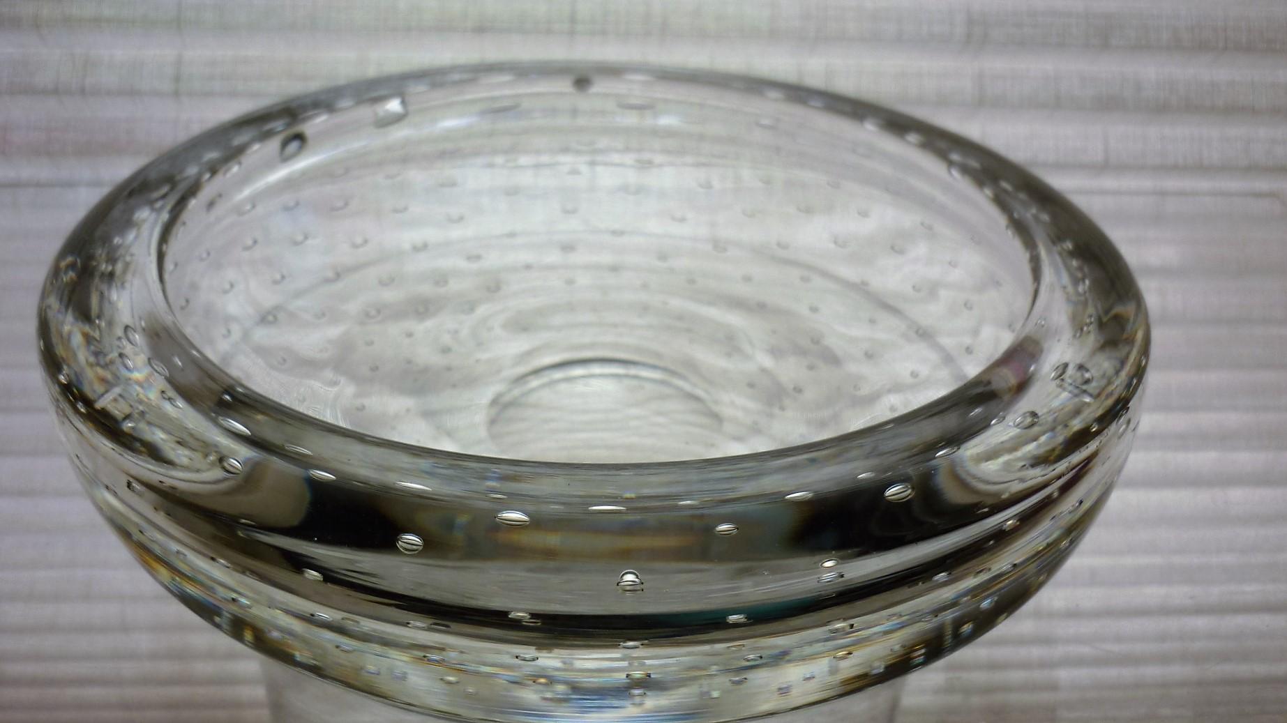 Large Vintage Whitefriars Flint Glass Bowl Pattern no. 9099.
