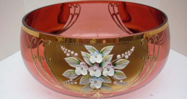 Bohemia Cranberry Glass Bowl