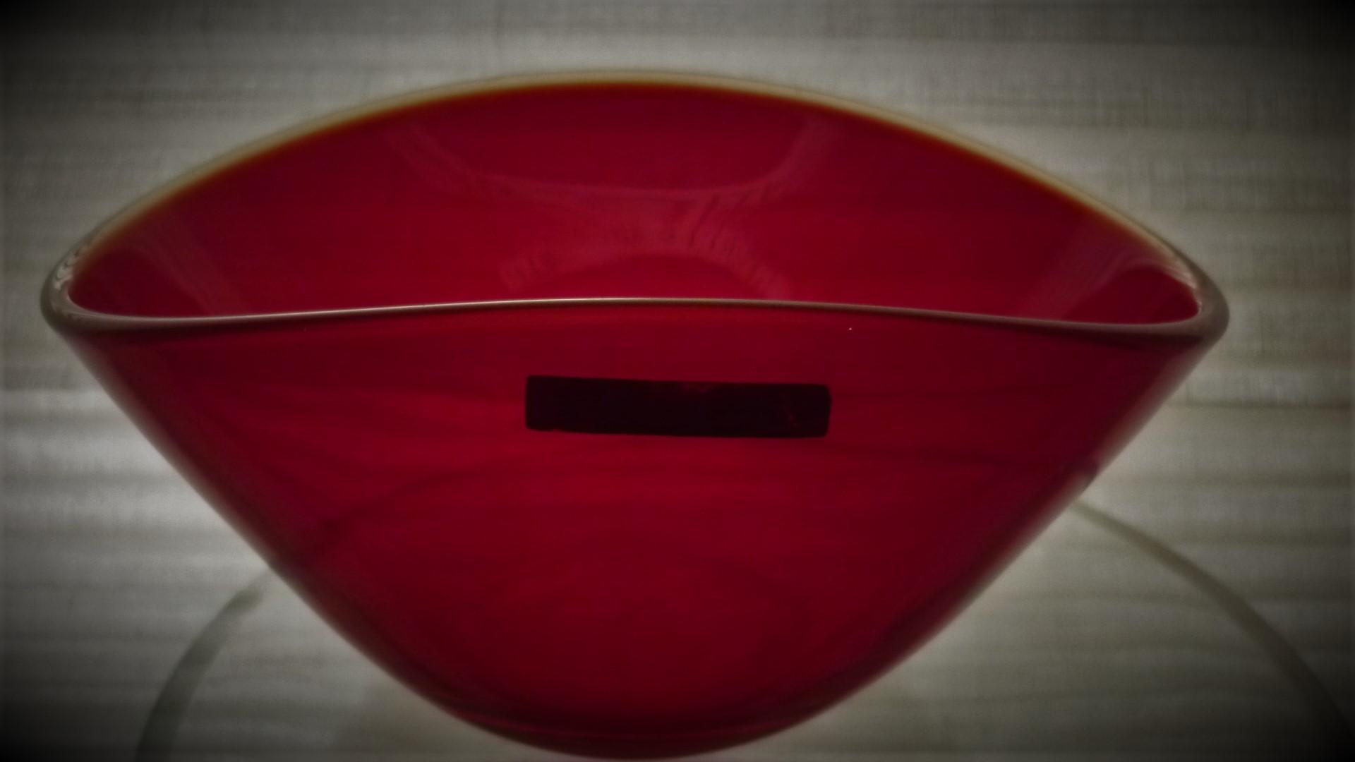 Vintage stylish  Norwegian Hadeland Red Bowl.