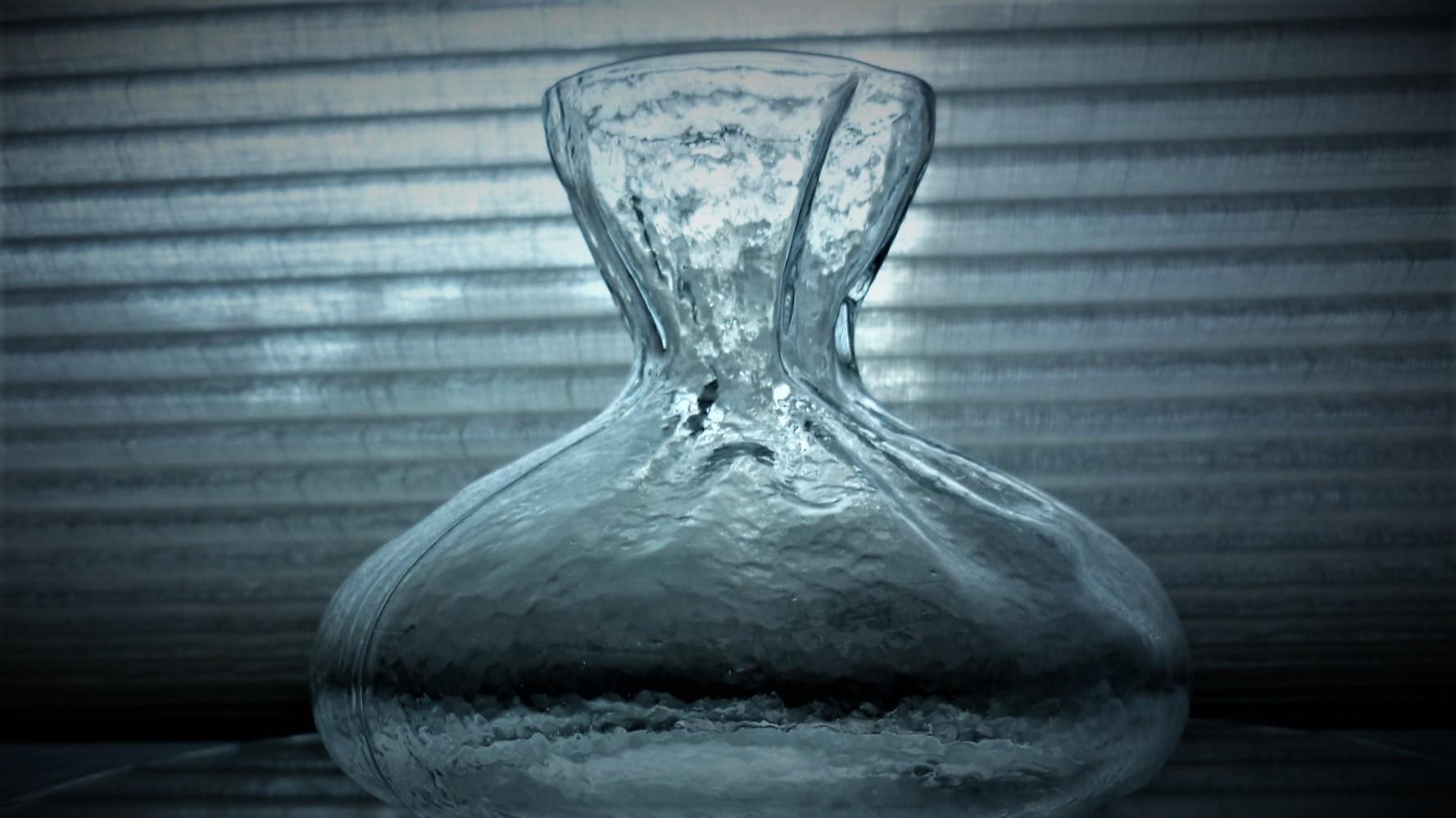 1970s vintage Sea of Sweden glass vase designed by Rune Strand.