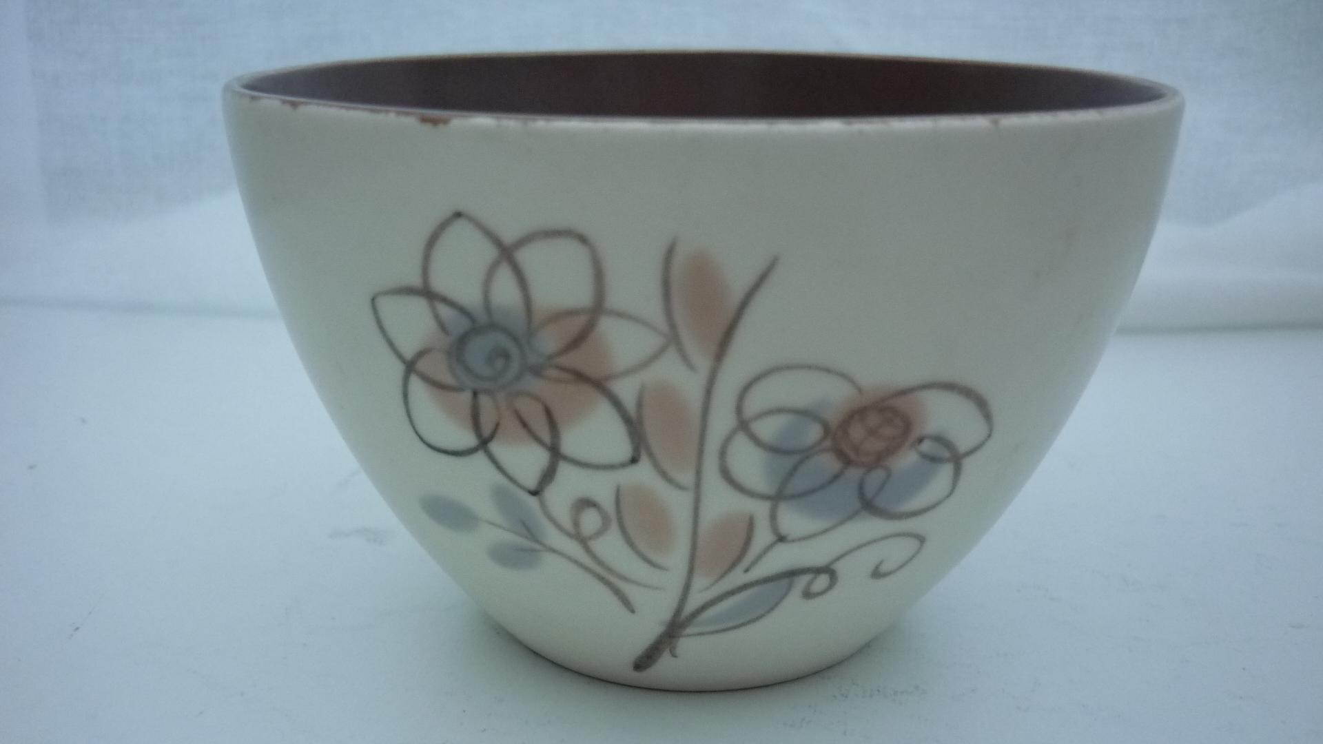Nice 50s vintage Poole Pottery Trudiana  Sugar Bowl.