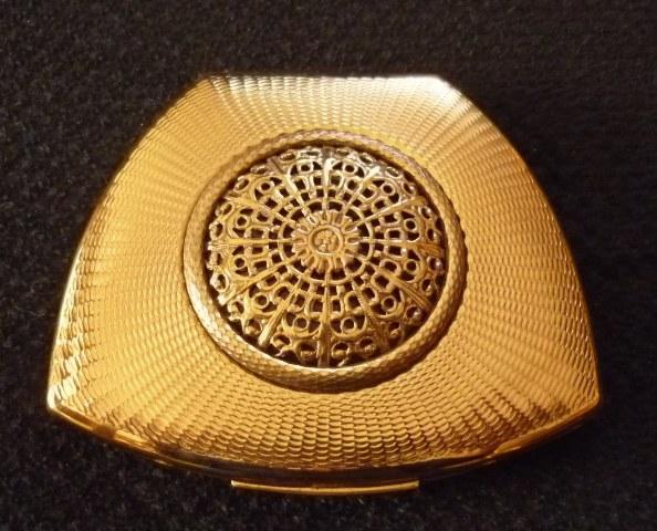 Rare 50s Mascot Brass Compact