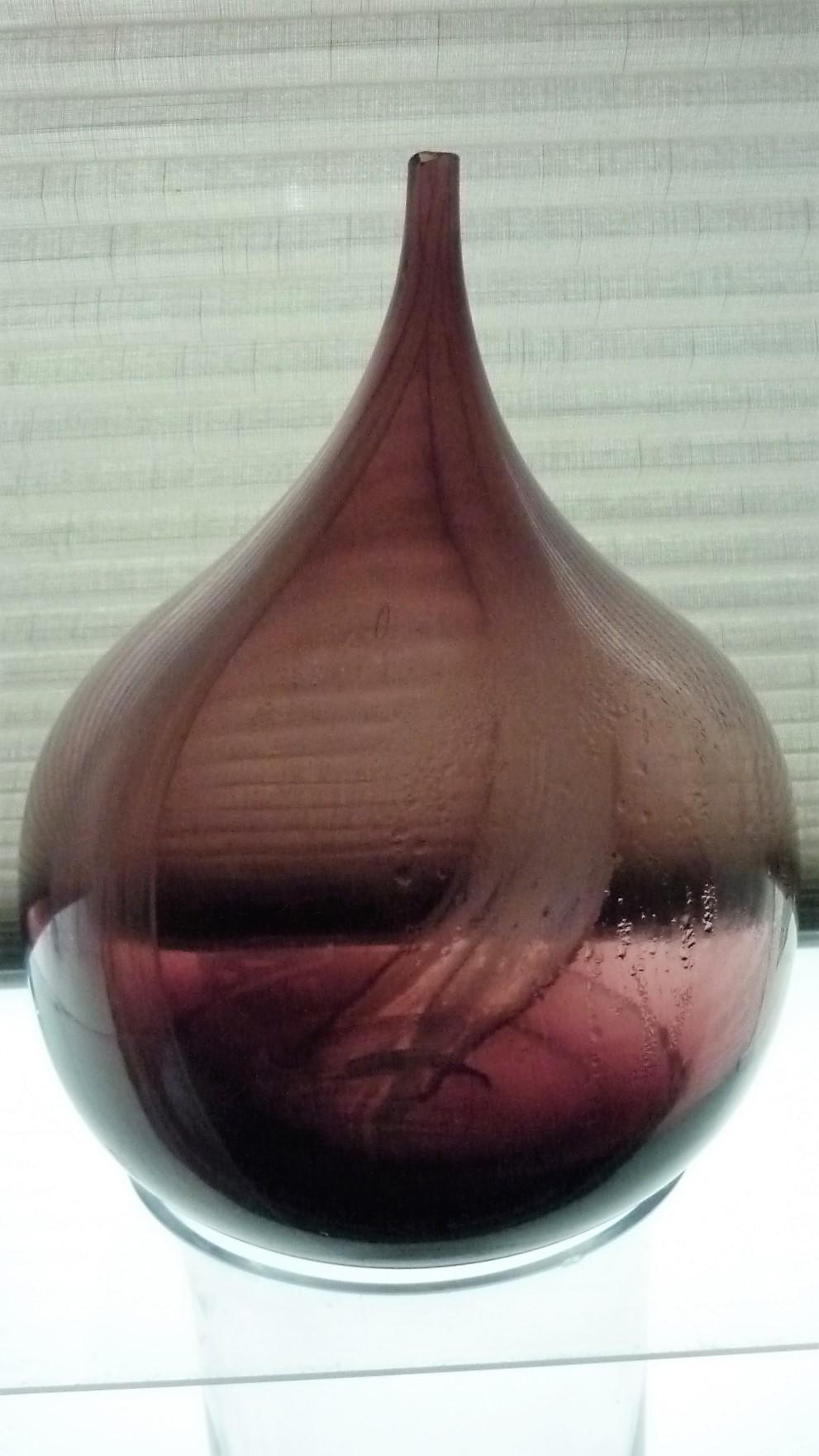 Large Decorative Amethyst Tear Drop Bud Vase