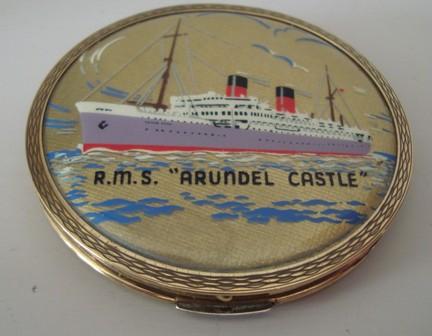 Rare Stratton RMS Arundel Castle Powder Compact Circa 1937