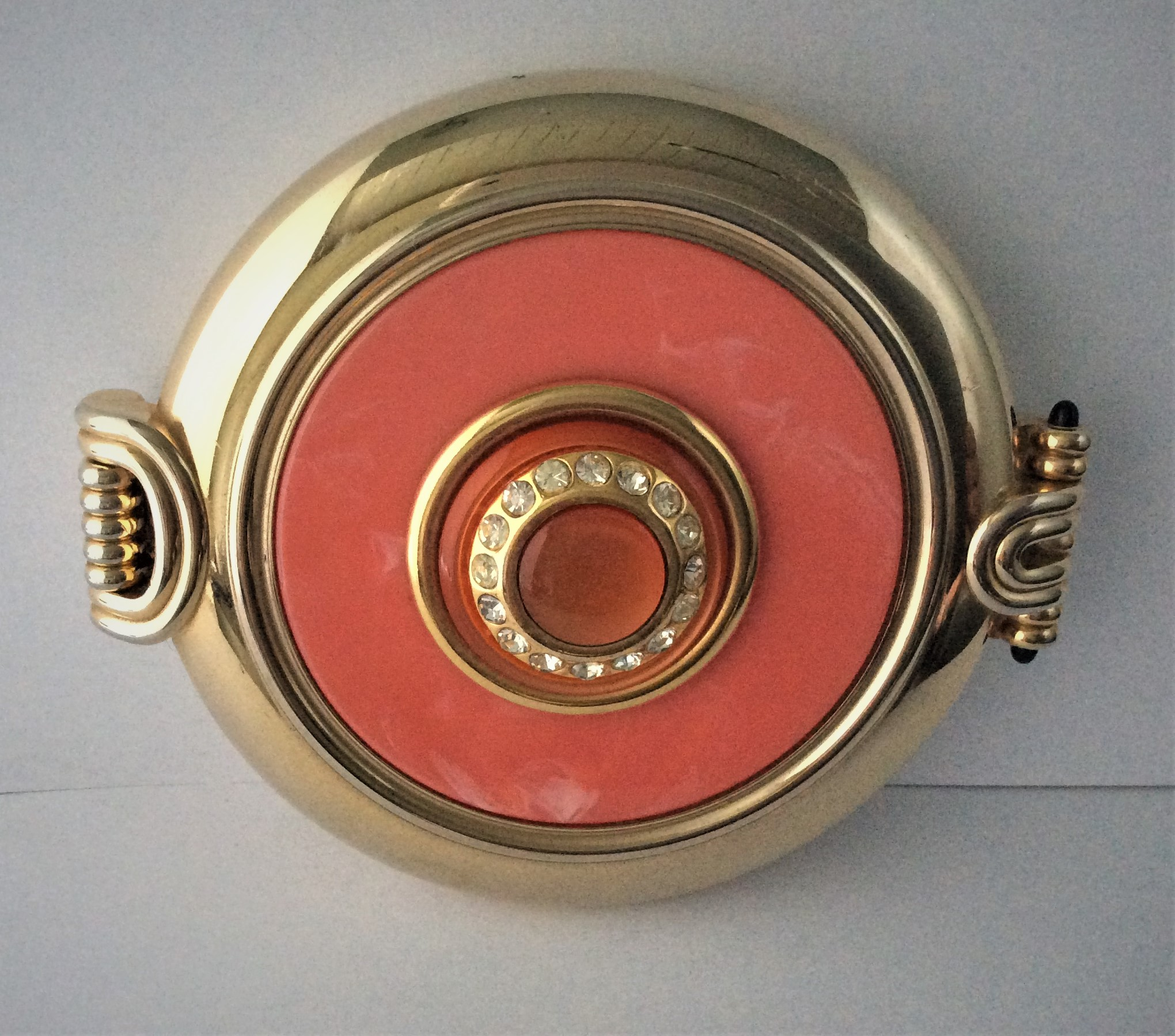 Vintage c.70s Jäneke Gold Plated Double Mirror Compact