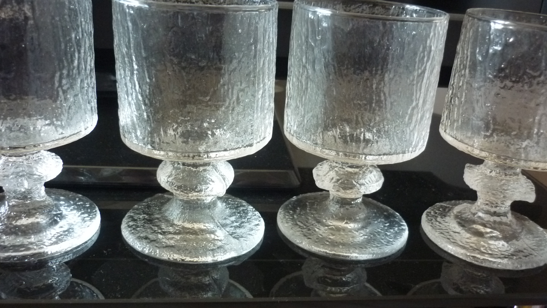 "Set of 4 Vintage Iittala ""Senator"" Red Wine glasses."