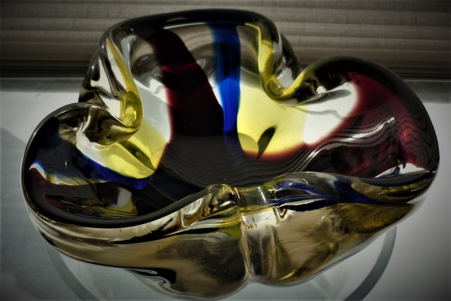 stylish example of a vintage Murano Glass bowl.