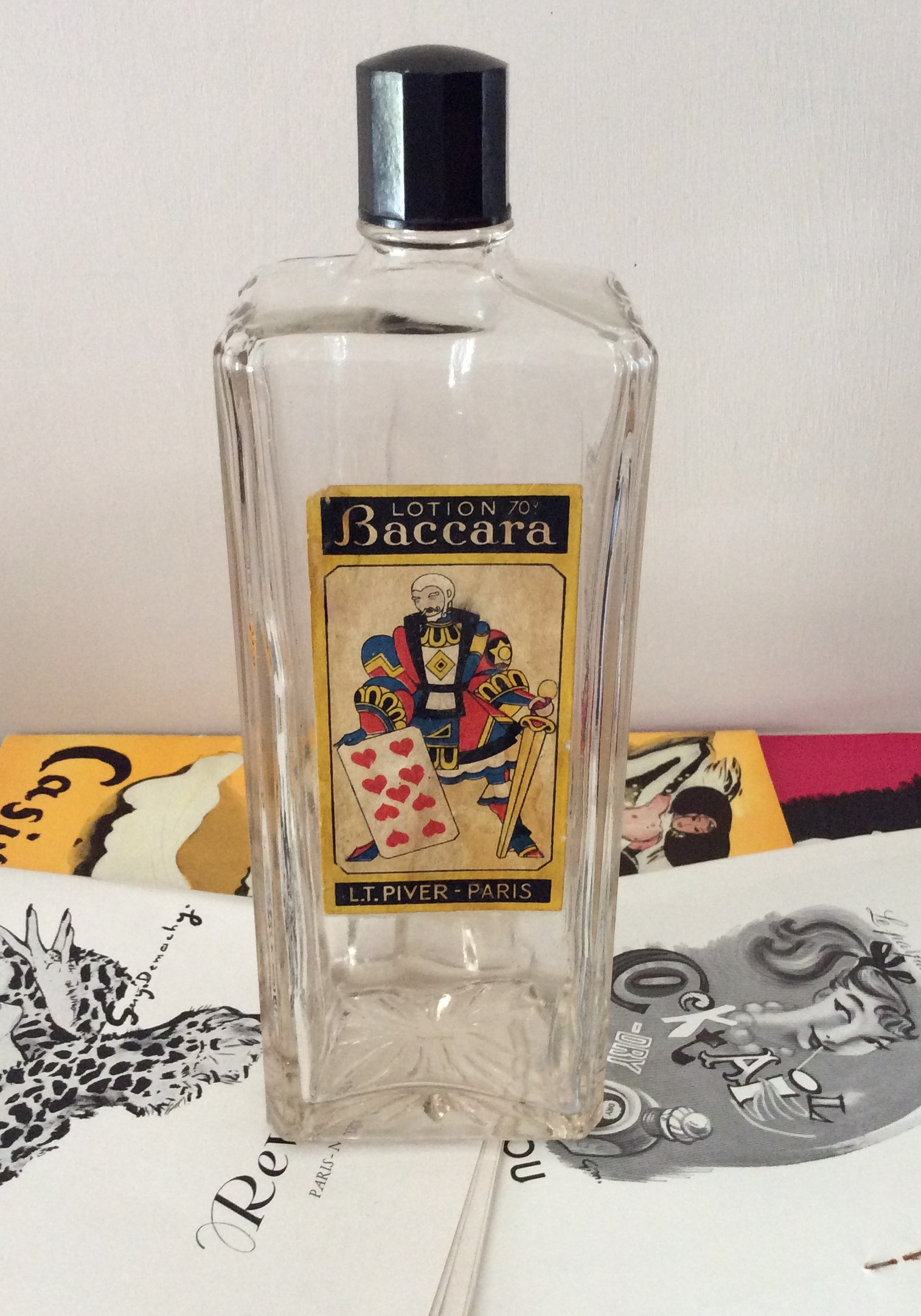 Rare Circa 1959 Baccara L T PIVER Lotion Bottle