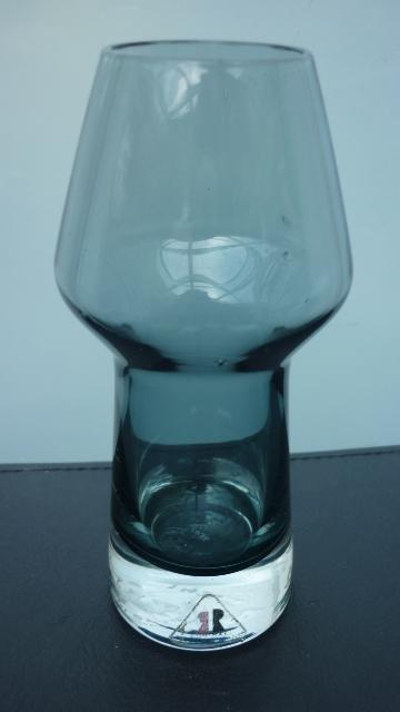"Vintage 1963 5.5ins high Rhiimaki  ""Stromboli""  Vase  designed by Aimo Okkolin."