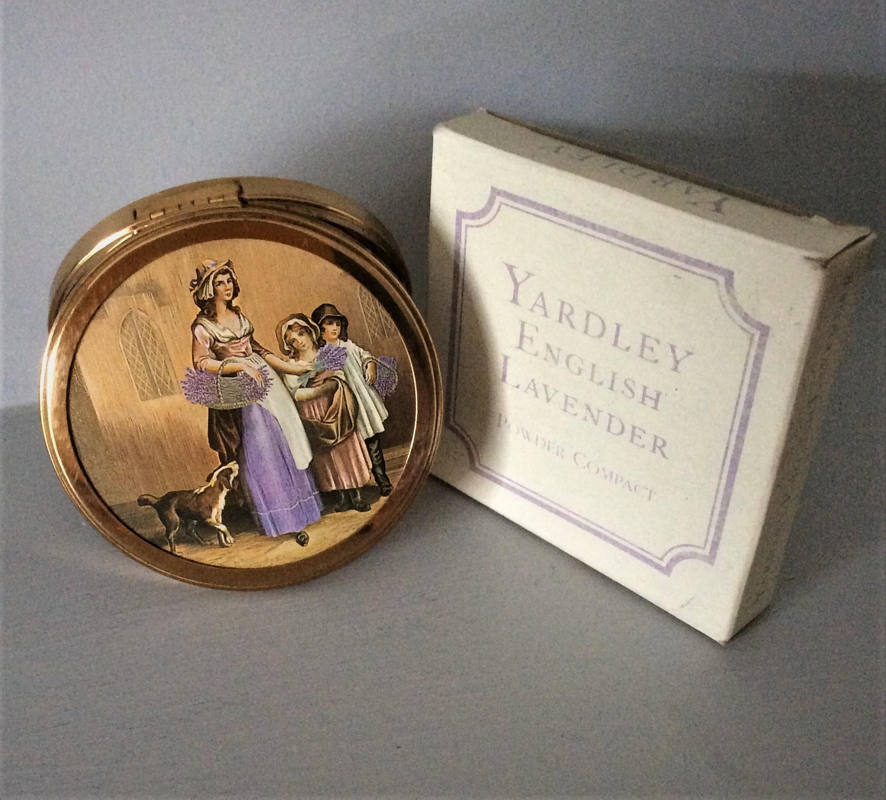 Vintage 60s YARDLEY English Lavender Powder Compact with original box