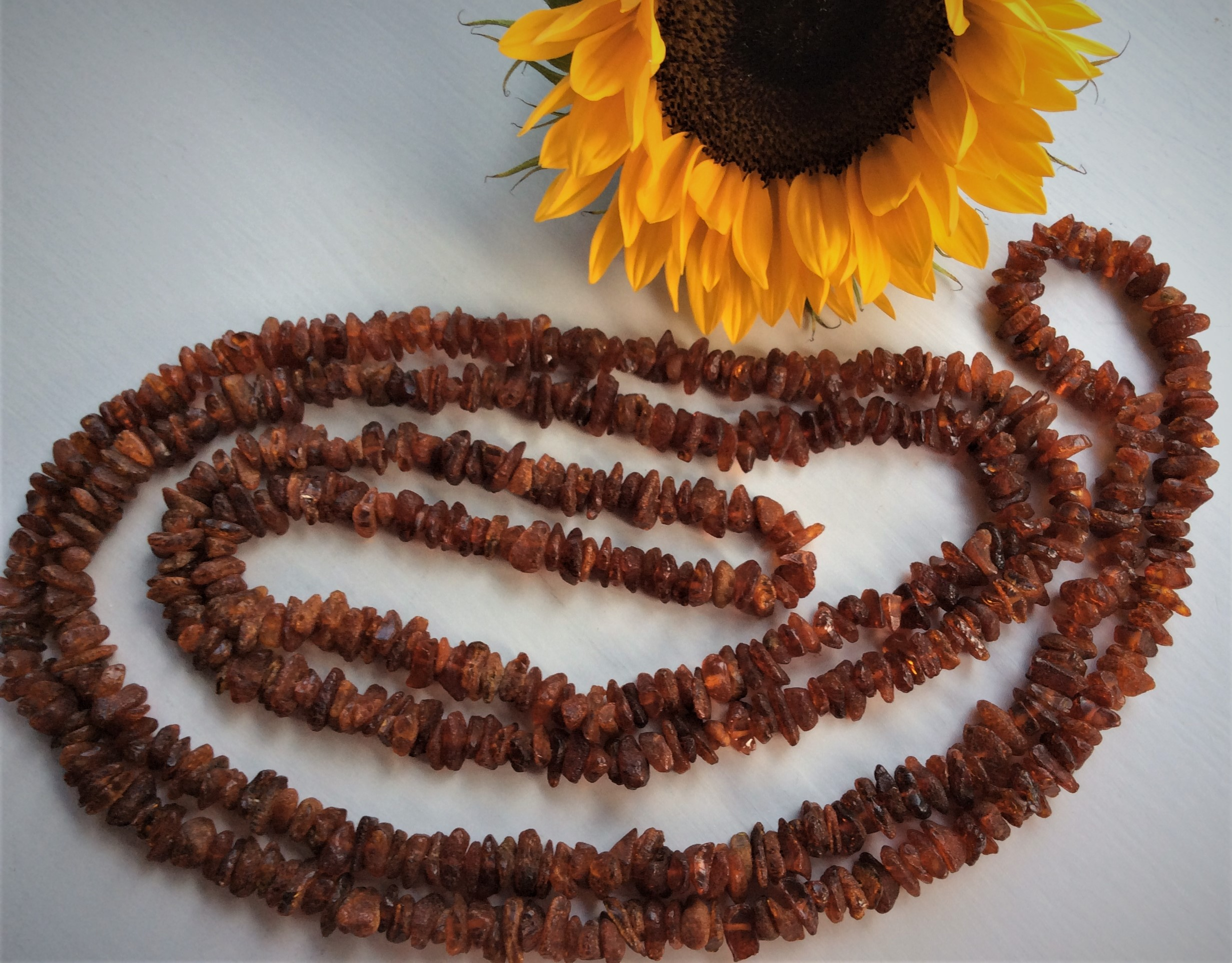 Fabulous Vintage 101grams Natural Raw Amber Necklace