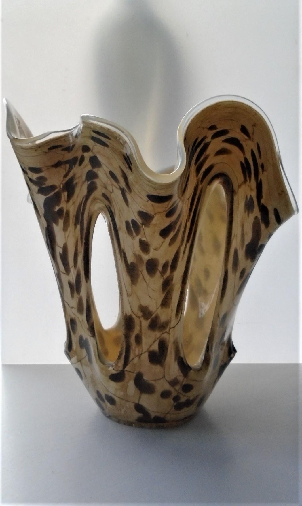 80s vintage Jozefina Krosno Glass Bowl.