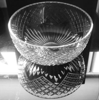 Stunning prewar Edinburgh crystal glass fruit bowl