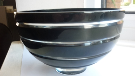 Tyrone Eclipse Pattern Crystal Bowl