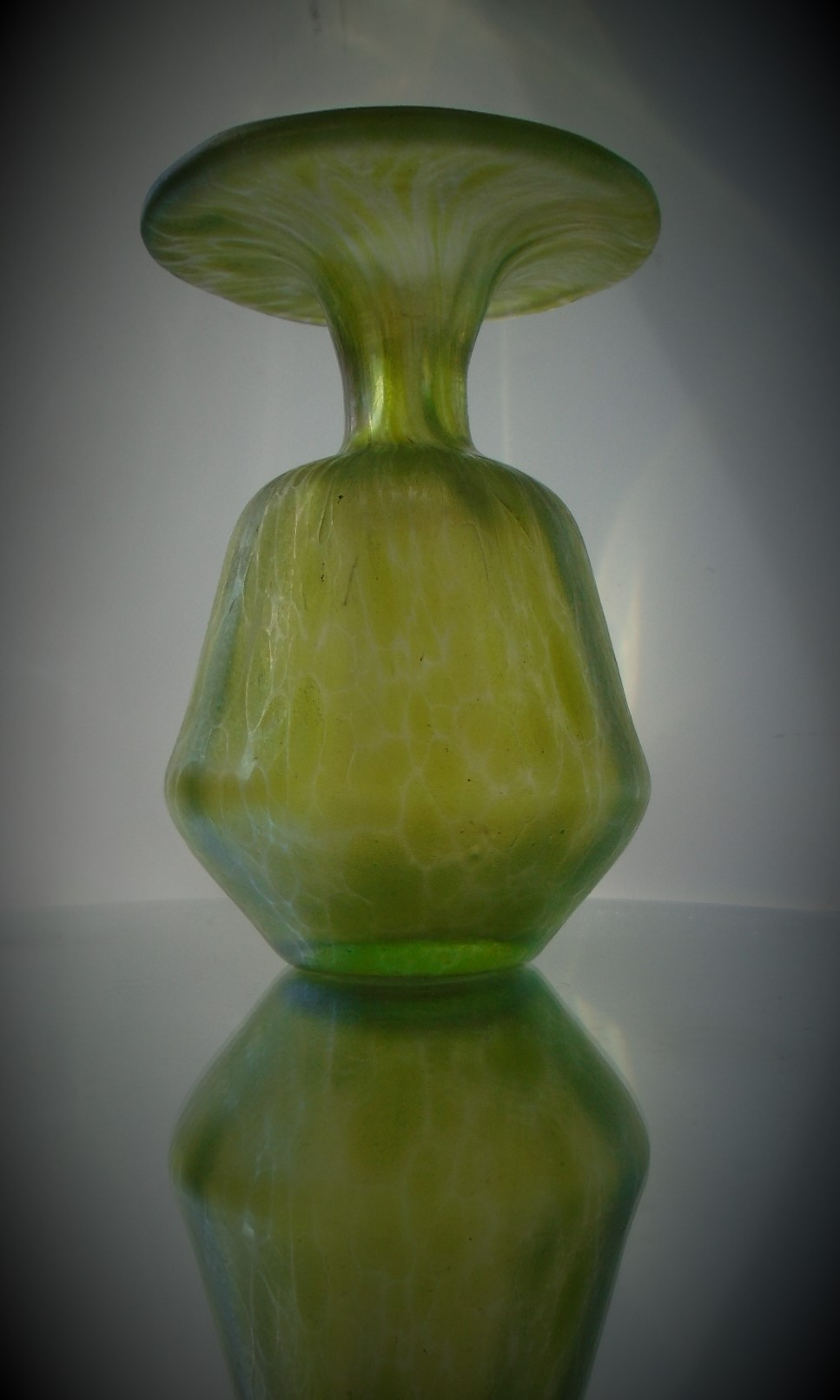 Beautiful example of an antique Art  Nouveau Loetz Diana Cisele vase.