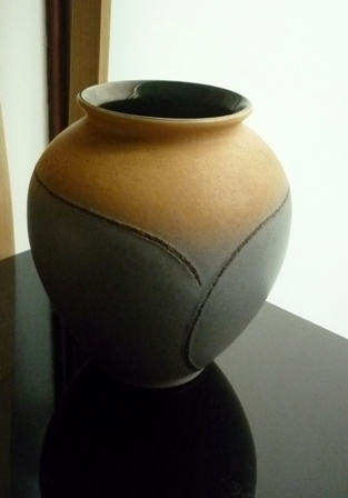 Vintage 60s 19.5cms high Bay Keramik West German Vase 650-21