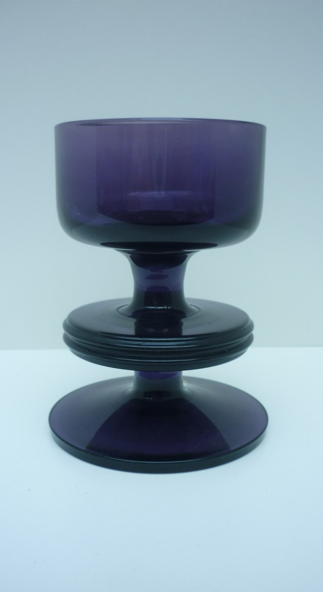 Vintage Wedgwood Sheringham Aubergine One Disc Candle Holder