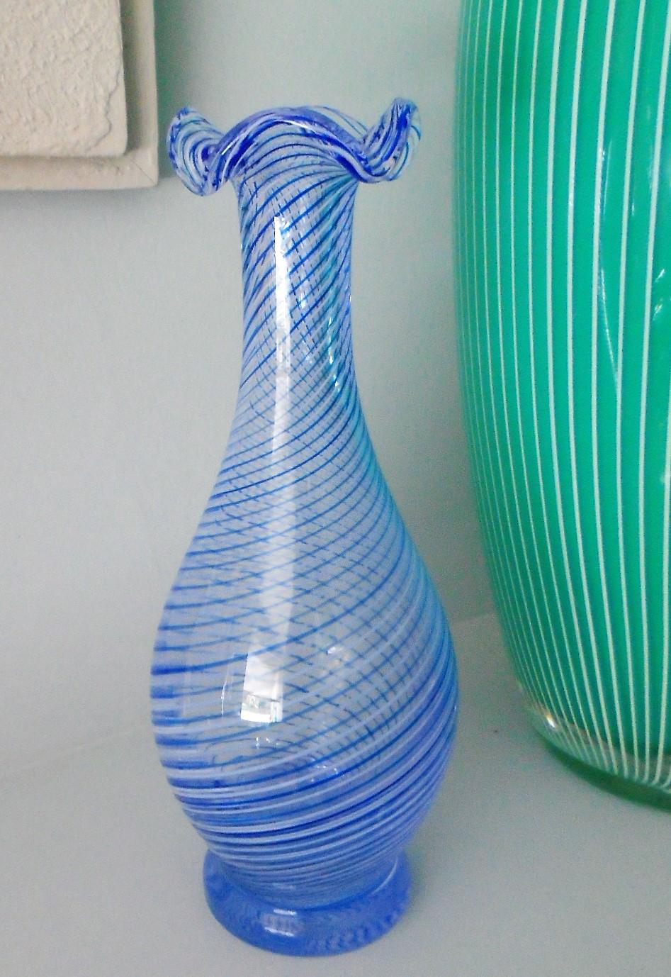 "Cesmi-I Bulbul ""Nightingale's Eye'"" Glass Vase Turkish"