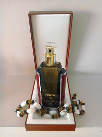 Boxed Santos de Cartier Paris empty Eau de Toilette Perfume Bottle