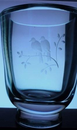 Orrefors Engraved Vase