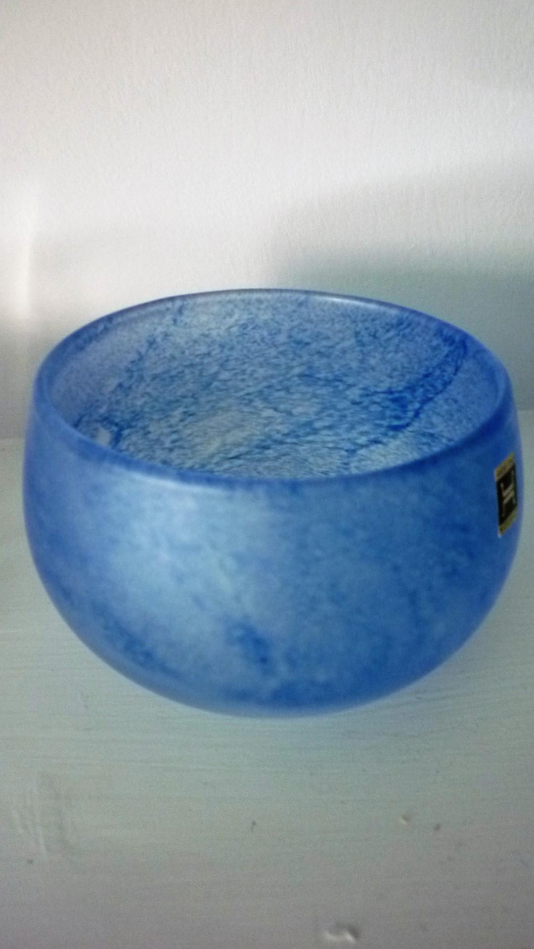 Vintage Norwegian Glass Hadeland Bowl.