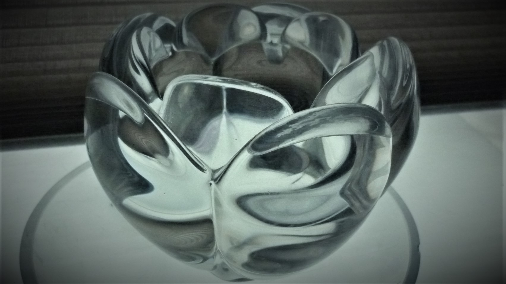 Late 20th Century Royal Copenhagen Crystal Lotus Bowl designed by Torben