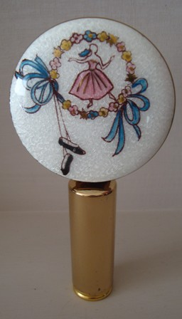 Exquisite Vintage Lipstick Holder and Mirror Compact