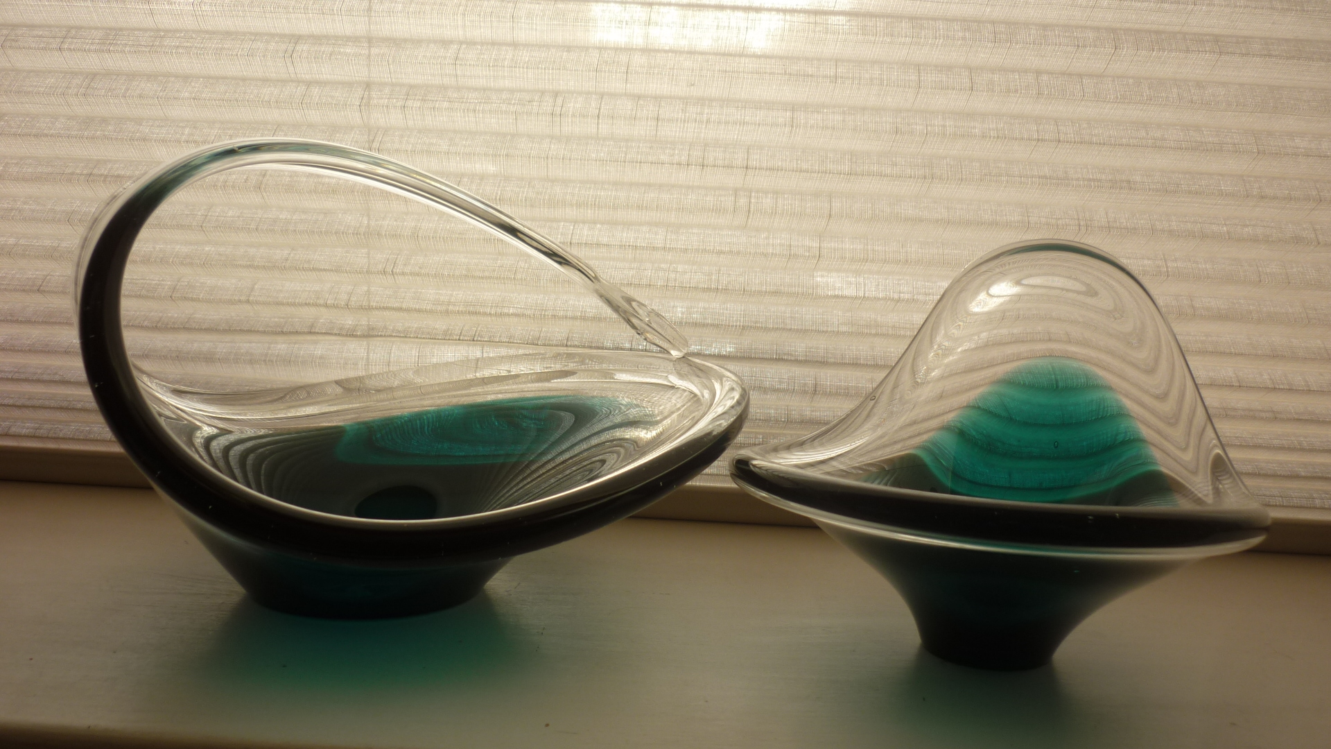 A Pair of Murano Freeform Bowls