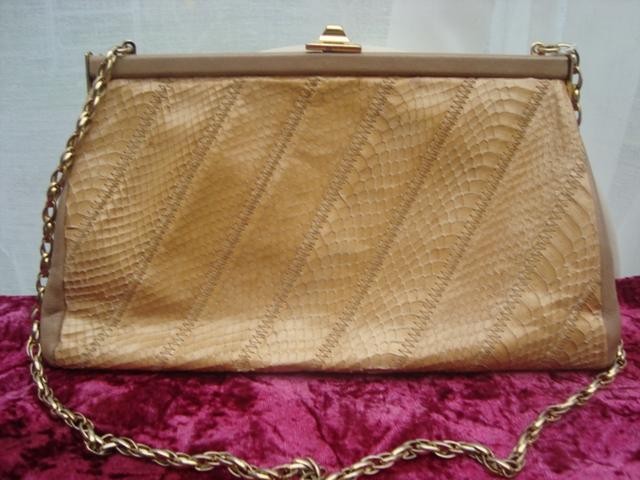 Attractive Jane Shilton Leather Genuine Snake Skin clutch