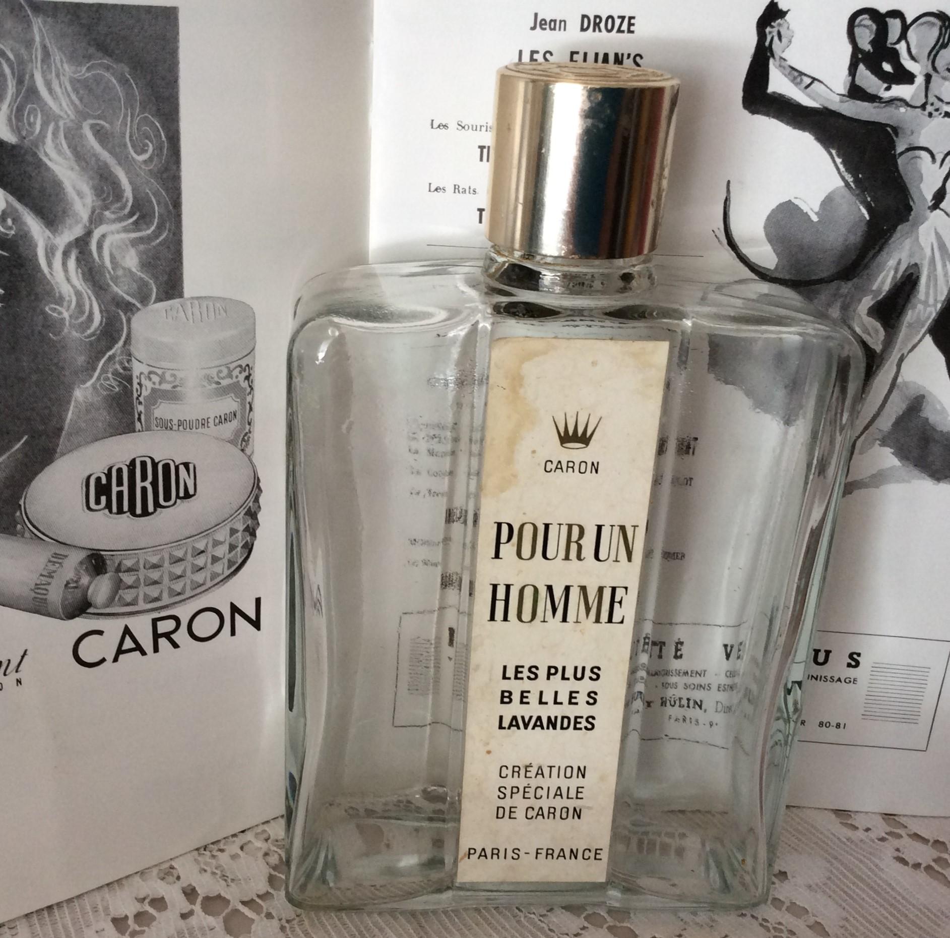 Vintage CARON Pour un Homme Les Plus Belles Lavandes Perfume Bottle