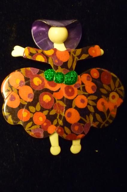 Vintage Lea Stein Ballerina Brooch