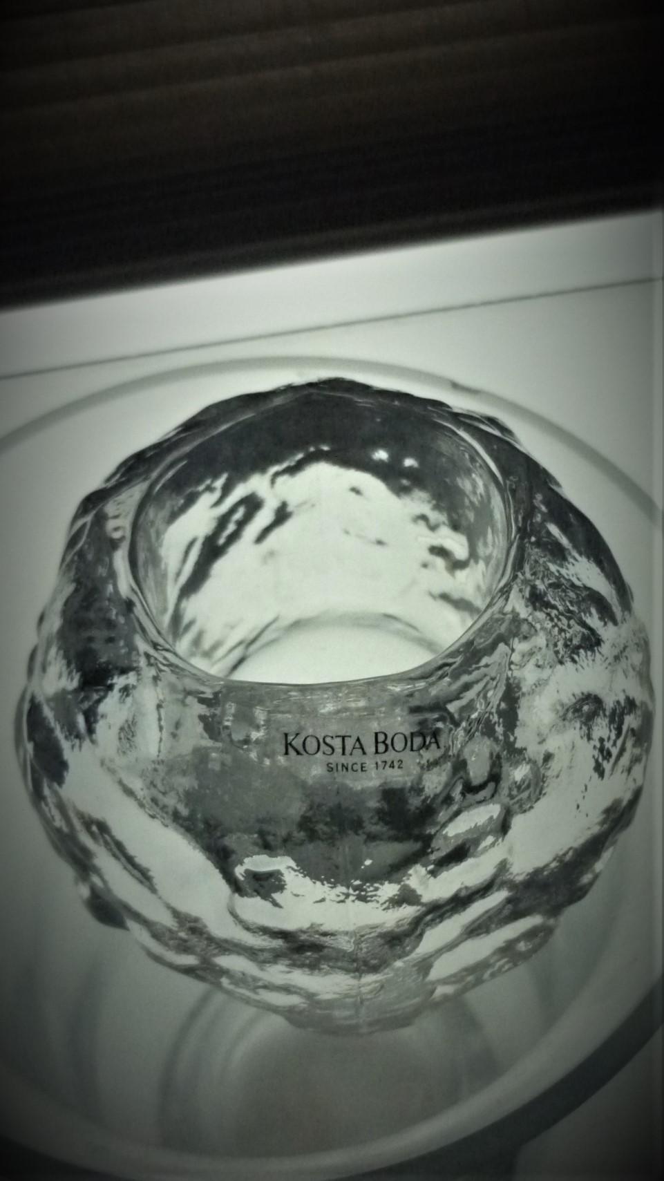 "1970s Ann Warff design Glass ""Snowball""Votive for Kosta Boda."